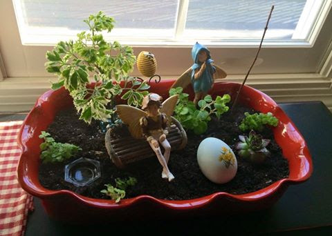 Whimsical fairies embellish this Spring garden (Candace Petrucci)